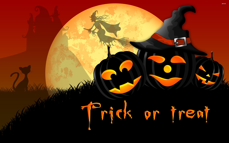 Cute 3d Cartoon Wallpapers Dark Pumpkins Trick Or Treat Happy Halloween