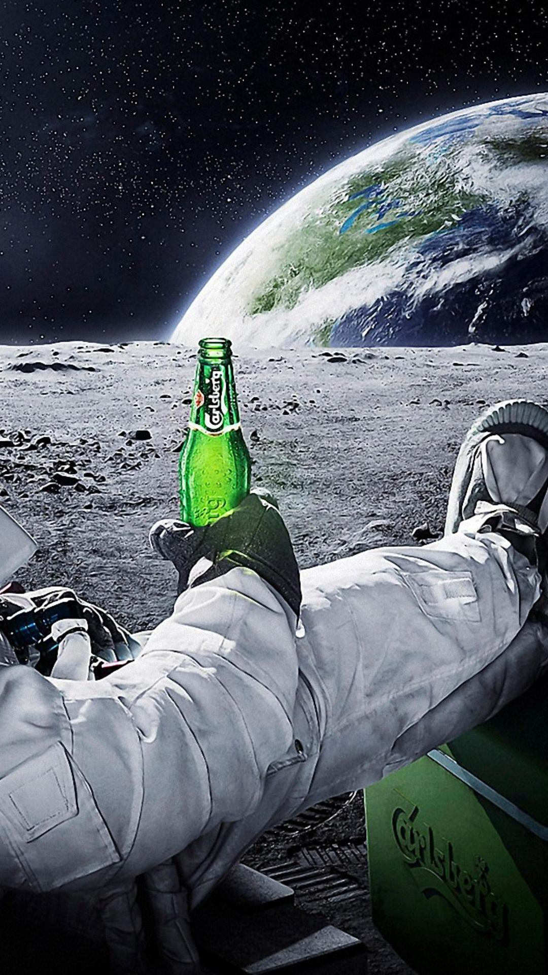 Sodapoppin 3d Wallpaper Drinking Beer On The Moon Wallpaper Download 1080x1920
