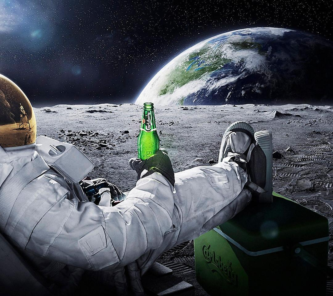 Girls Of The Wilds Wallpaper Drinking Beer On The Moon Wallpaper Download 1080x960