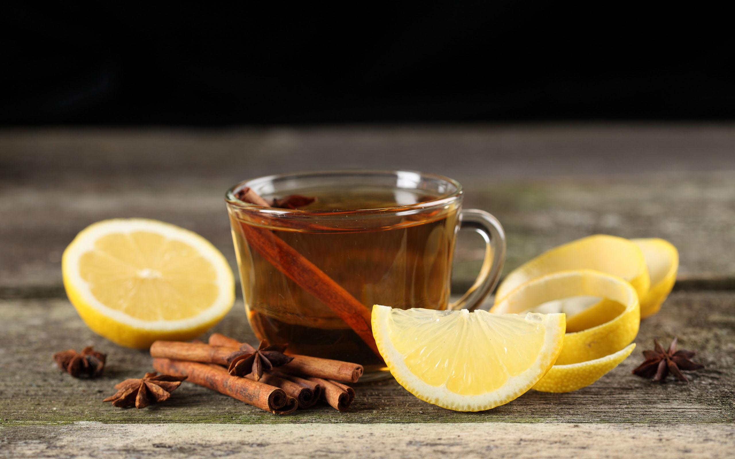 Wallpaper Coffee 3d Hot Tea With Lemon And Cinnamon Winter Drink