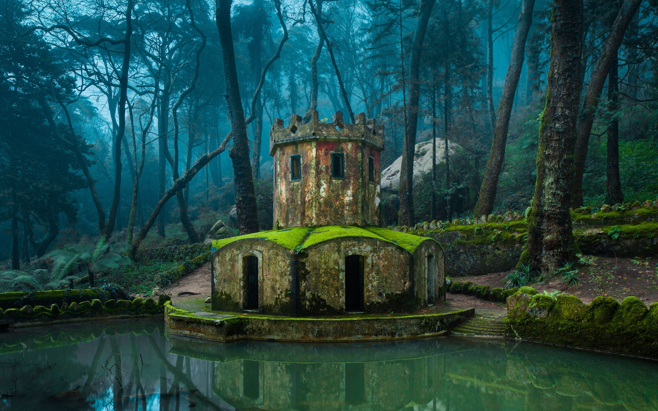 3d Wallpaper Of Dogs Sintra Portugal The Inverted Tower