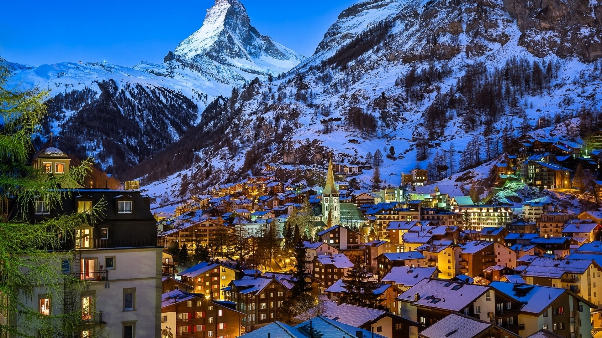Cute 3d Cartoon Wallpapers Winter At Zermatt Valley Switzerland