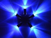 5 x Blue Single Led Battery Powered Lights Waterproof ...