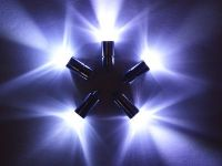 5 x White Single Led Battery Powered Lights Waterproof ...