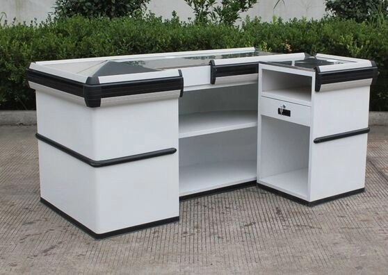 Convenience Store / Supermarket Checkout Counter , Stainless Steel