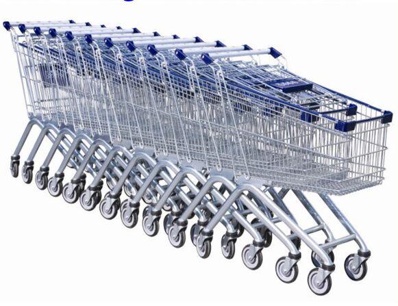 Steel Wire Shopping Trolley Grocery Supermarket Folding