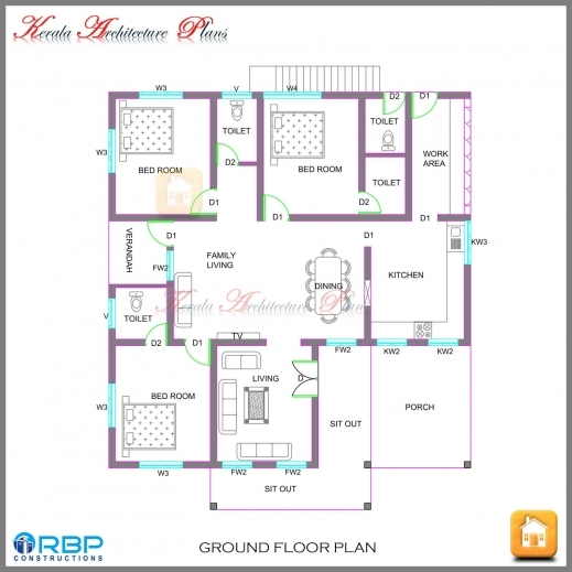 28+  Single Floor 3 Bhk House Plans  One Story House Plans - 3 bedroom house plans