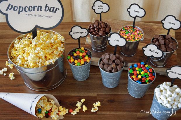 Tips For Setting Up A Party Diy Popcorn Bar