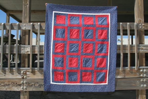 4th of July Picnic Quilt Front