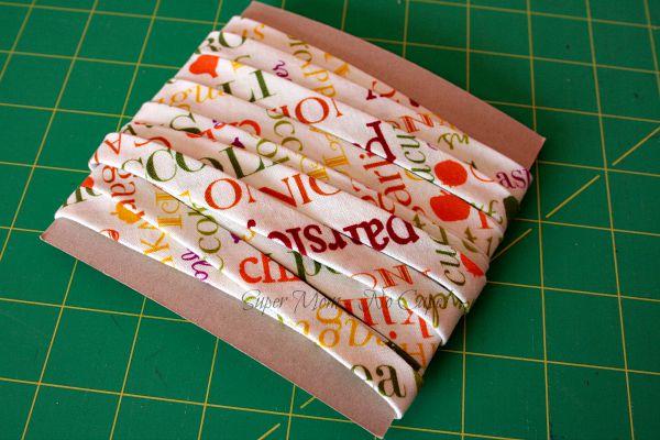 Bias tape binding leftover from making Thanksgiving apron