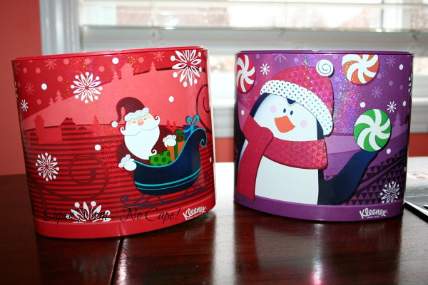 Last years Christmas tissue boxes