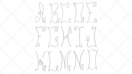 Vintage Workbasket - Embroidery Pattern - Curvy Alphabet A to O