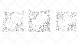 Vintage Workbasket - Embroidery Pattern - Frames for Curvy Alphabet