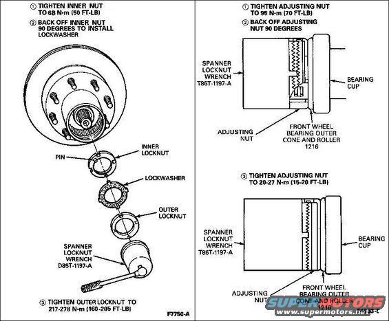 ford bronco locking hub diagram