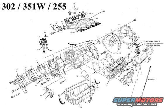 351w engine diagram