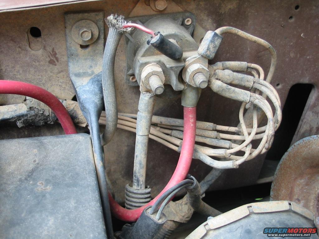 96 ford ranger starter solenoid wiring