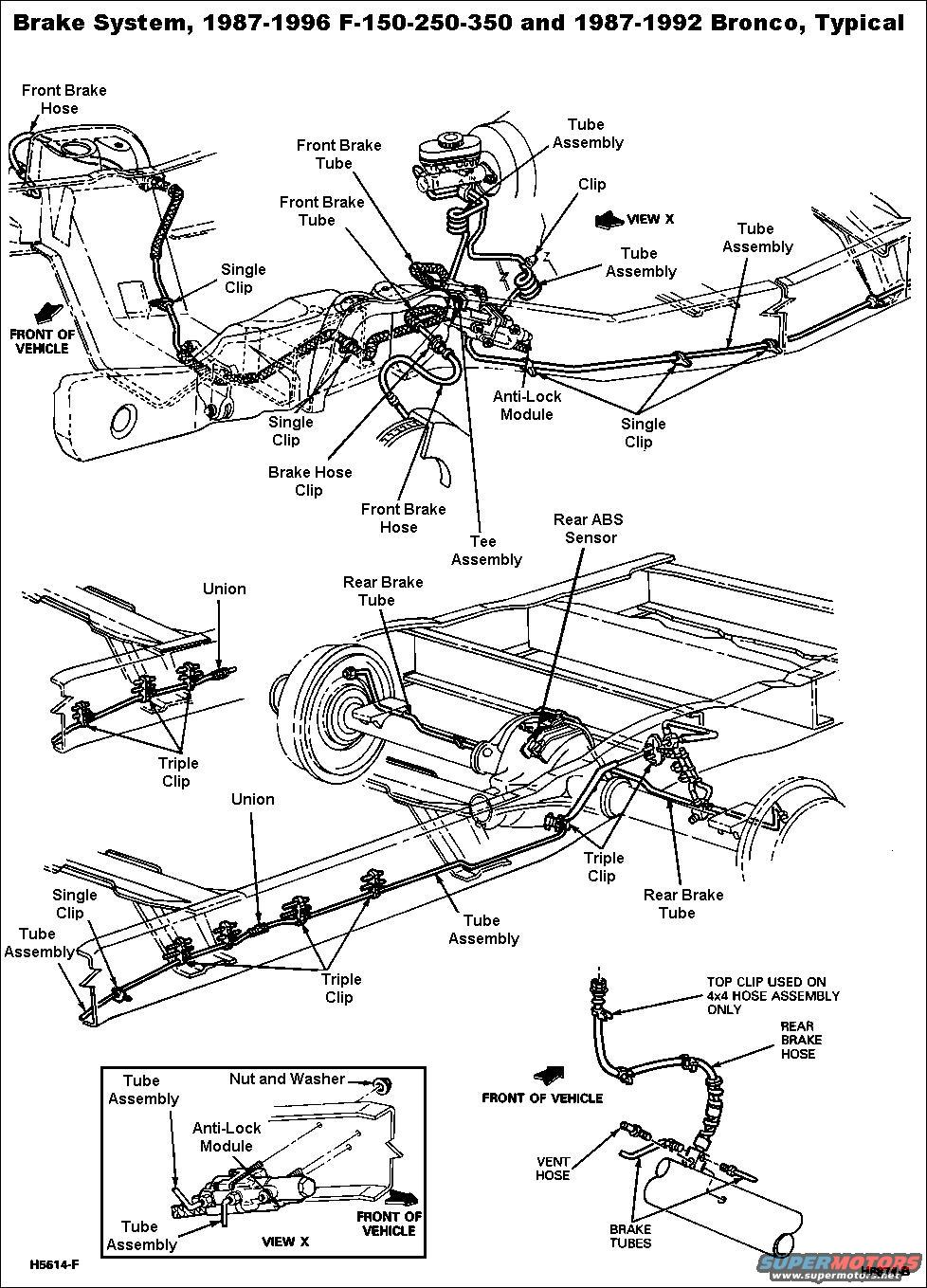 ford brakes diagram