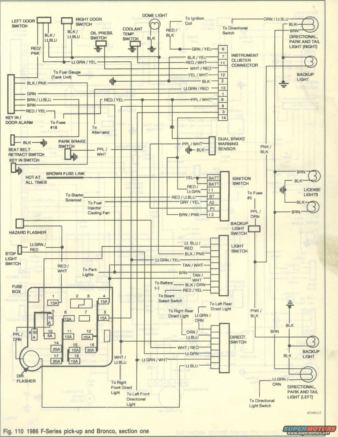 wiring diagrams 86 ford bronco 2