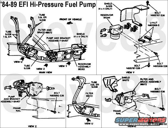 87 ford ranger fuel pump wiring diagram