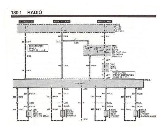89 Ford Radio Wiring Diagram Wiring Diagram Schematic