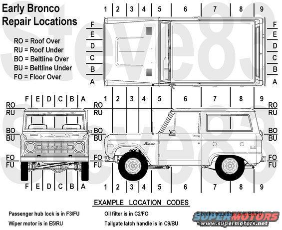 1976 ford bronco Schaltplang