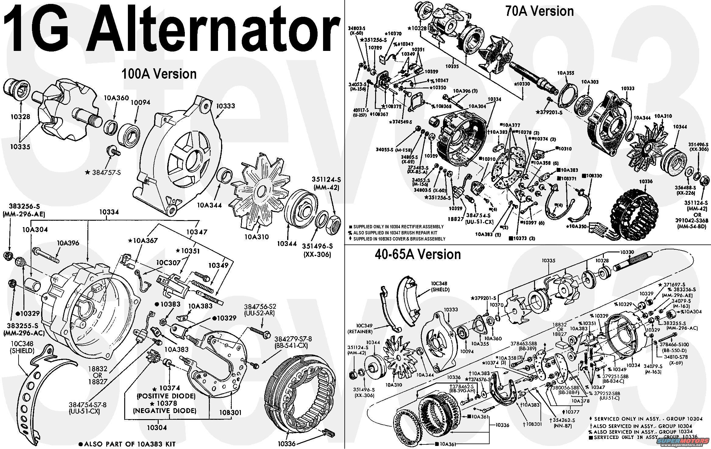 1g alternator wiring diagram