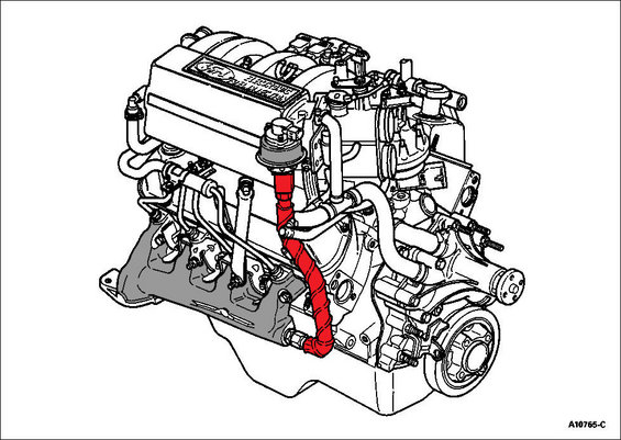 ford 302 engine parts diagram crossover pipe