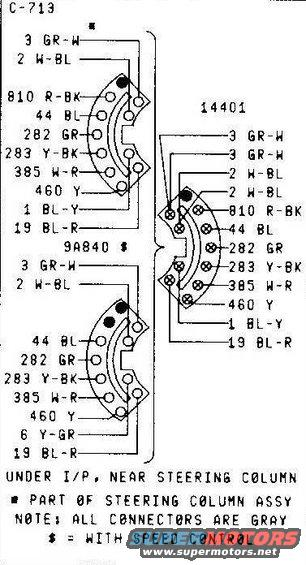 ford turn signal switch diagram