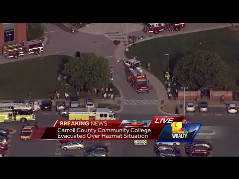 Video Carroll Community College evacuated after chemical overheated