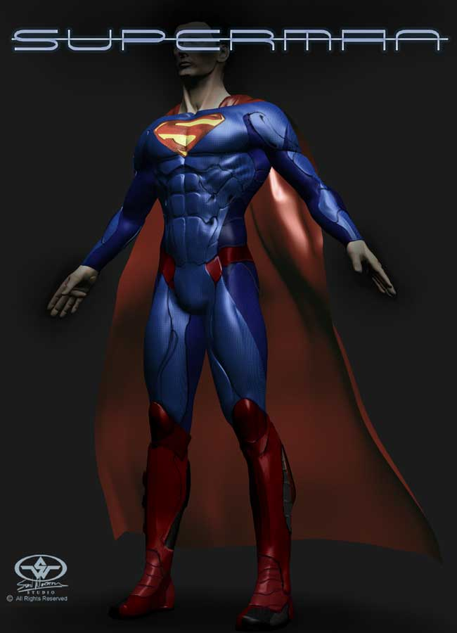 Stores That Have 3d Wallpaper Cgi Superman Costume For Nolan Movie Concept Art