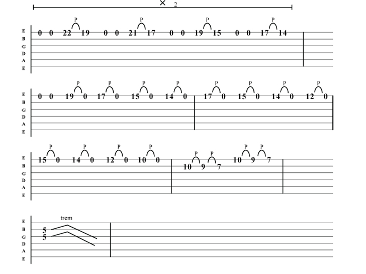 Metallica Justice for all solo guitar tab