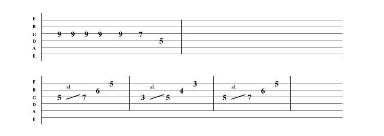 Metallica - Sanitarium solo 2 guitar tab