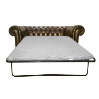 Leather Chesterfield Sofa Bed 1920 S English Upholstered ...