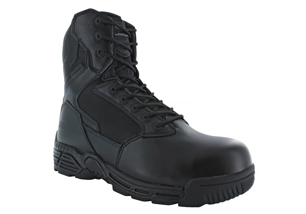 Mens Magnum 8quot Composite Toe Waterproof Side Zip Stealth Force 80 Black