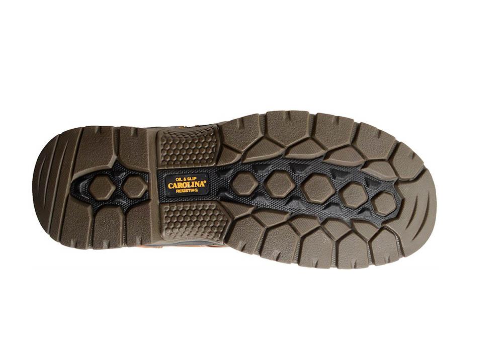 Mens Carolina 6quot Big Dog Slip Resistant Waterproof Brown