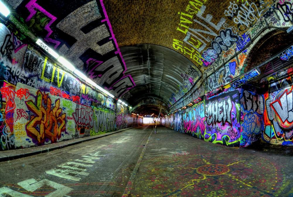 3d Street Art Graffiti Wallpaper Fototapete Nr 3487 Graffiti Tunnel Graffiti