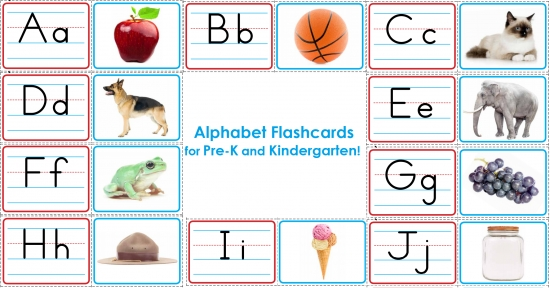 Full Color Alphabet Flashcards