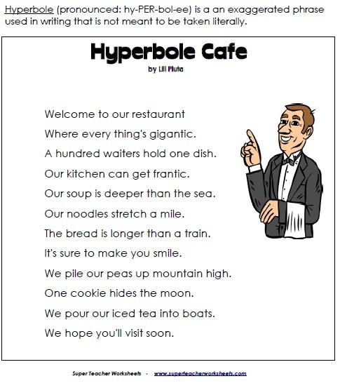 EXAMPLES OF HYPERBOLE - alisen berde