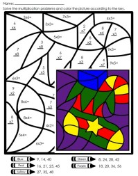 Multiplication Mystery Picture Worksheets - multiplication ...