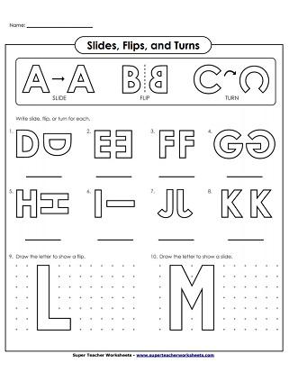 Slide, Flip, and Turn Worksheets