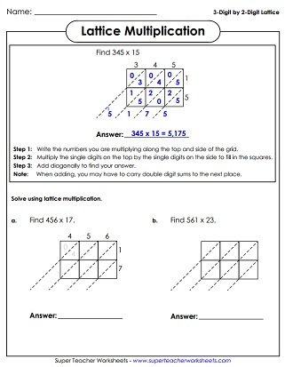 Multiplication Worksheets (3-Digits Times 2-Digits) - long multiplication worksheets