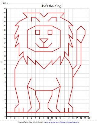 Mystery Graph Picture Worksheets