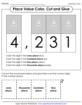 Place Value Worksheets (4-Digit Numbers) - place value worksheet