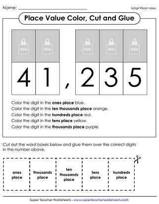 Place Value Worksheets (5-Digit Numbers) - place value worksheet