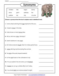 Synonym Worksheets | www.pixshark.com - Images Galleries ...