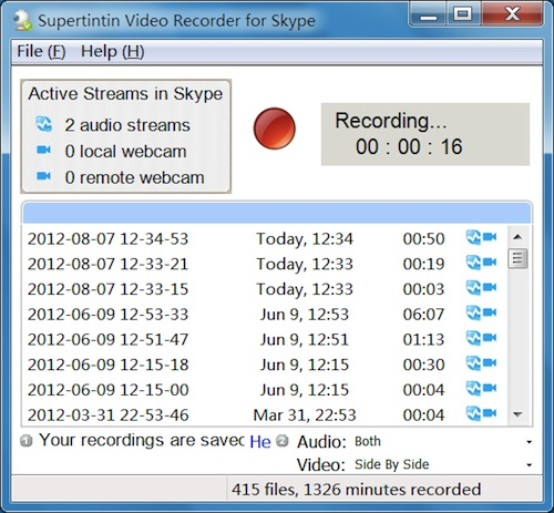 Learn how to record skype video calls in 2 minutes Supertintin Blog - Record Skype Video Calls