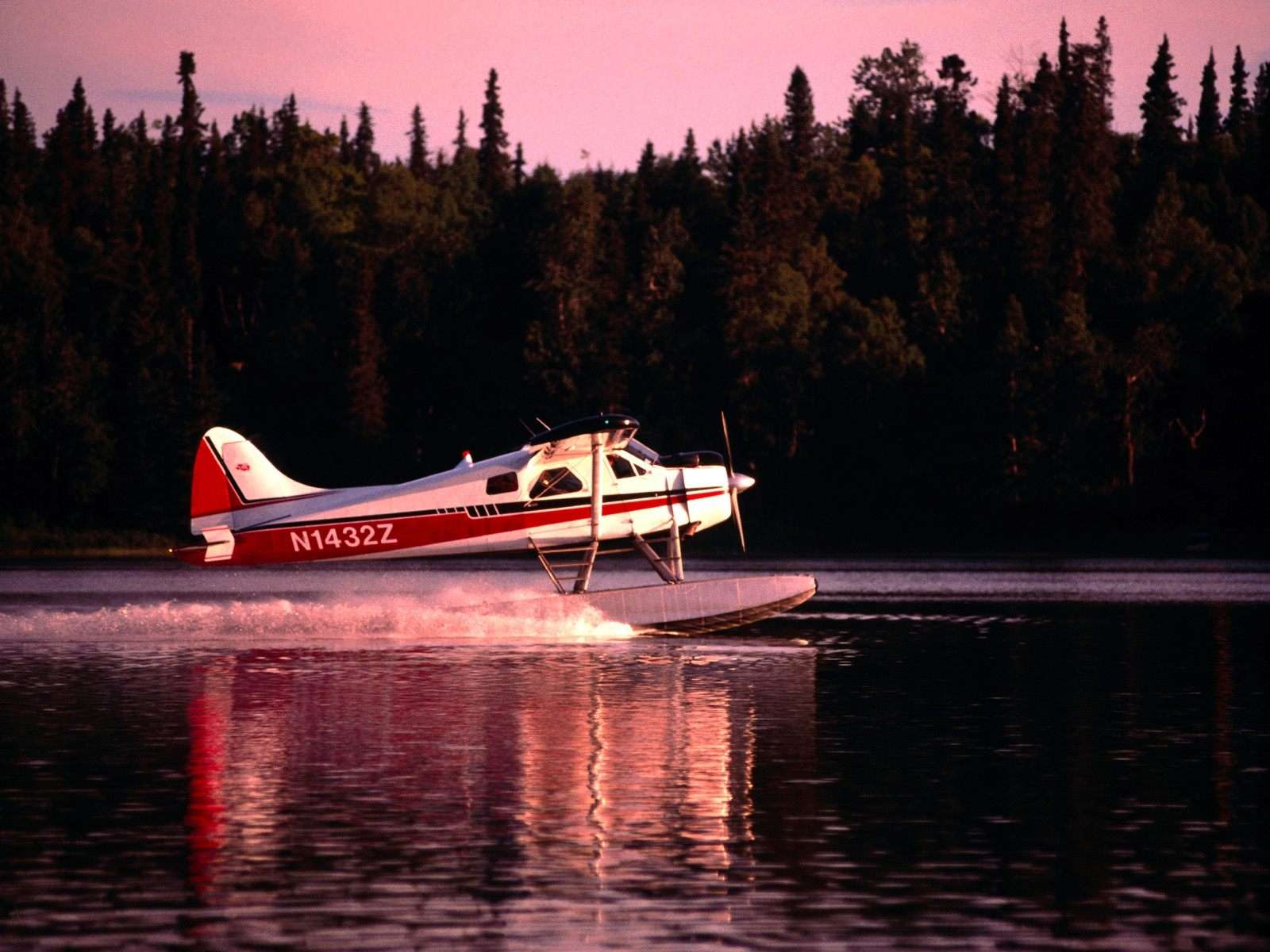3d Motivational Wallpapers Go For Takeoff Dehaviland Beaver Aircraft Lake Hood Alaska