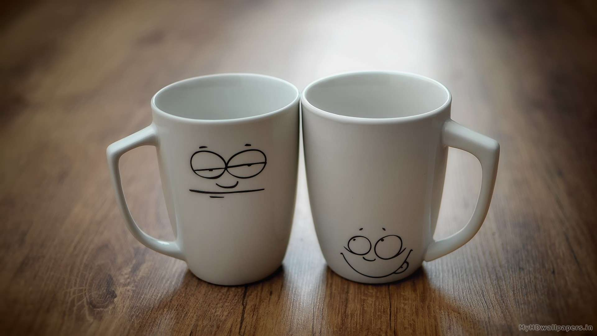 Love Cute Couple Wallpaper Download Two Cups Smiley Face Hd Wallpapers