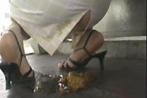 girl has diarrhea accident