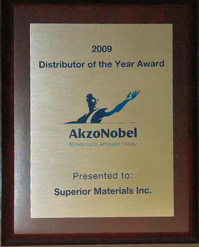 Awards \u2013 Superior Materials Specialty Chemical Distributor